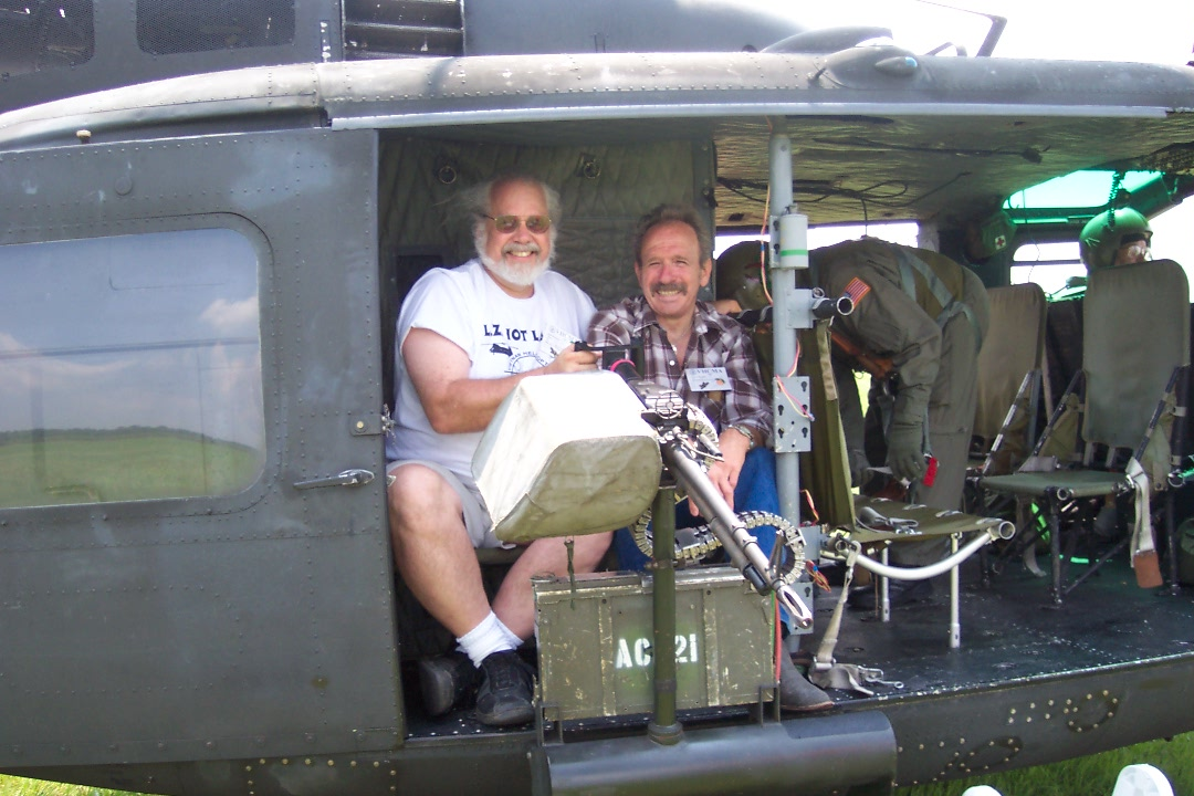 Pat and Terry in the gunner seat 1
